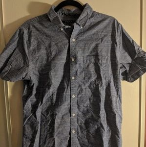 Chambray-style short sleeve button up